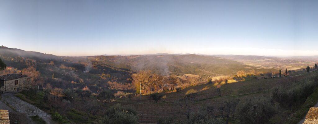La vista da Montalcino