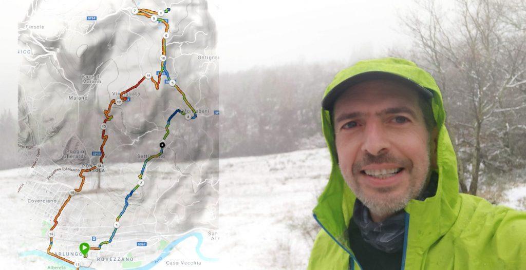Selfie con la neve su Monte Fanna